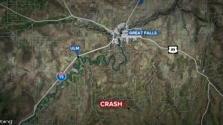 1 man dead, another injured in crash south of Great Falls