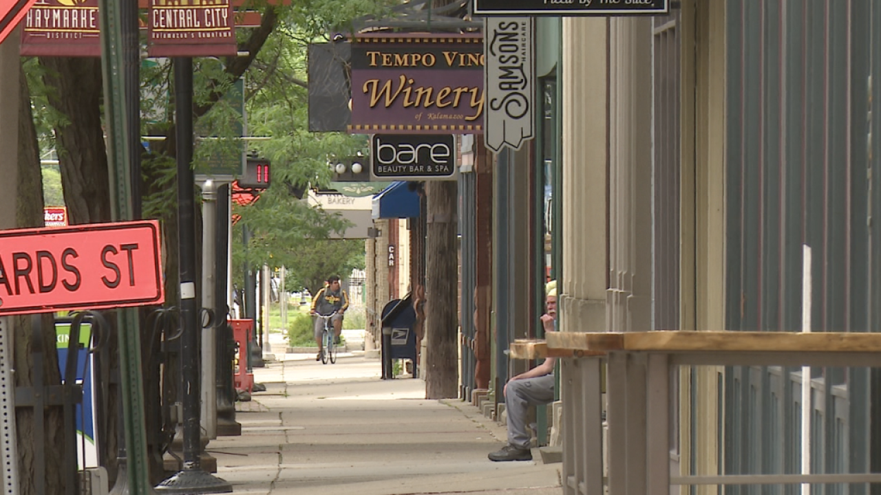 Downtown Kalamazoo Businesses in Summer