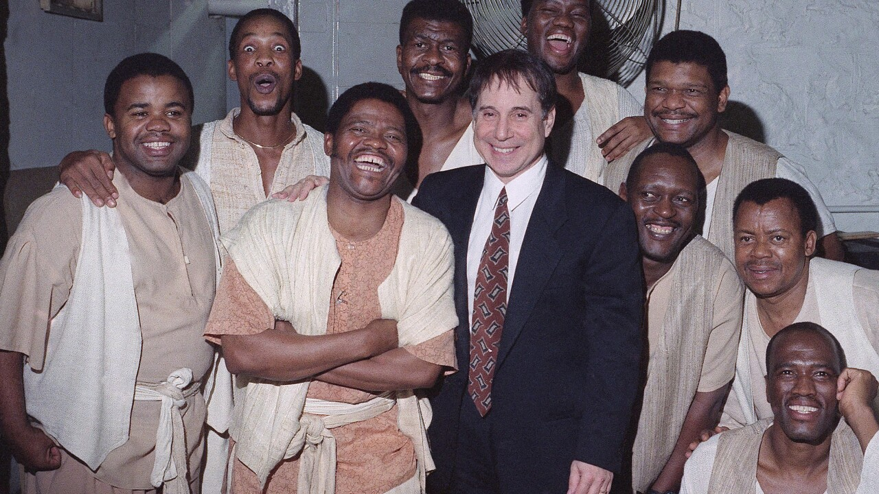 Joseph Shabalala and Ladysmith Black Mambazo with Paul Simon