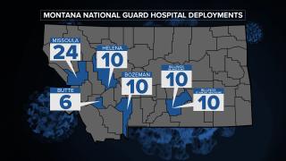 National Guard MT Hospitals Map
