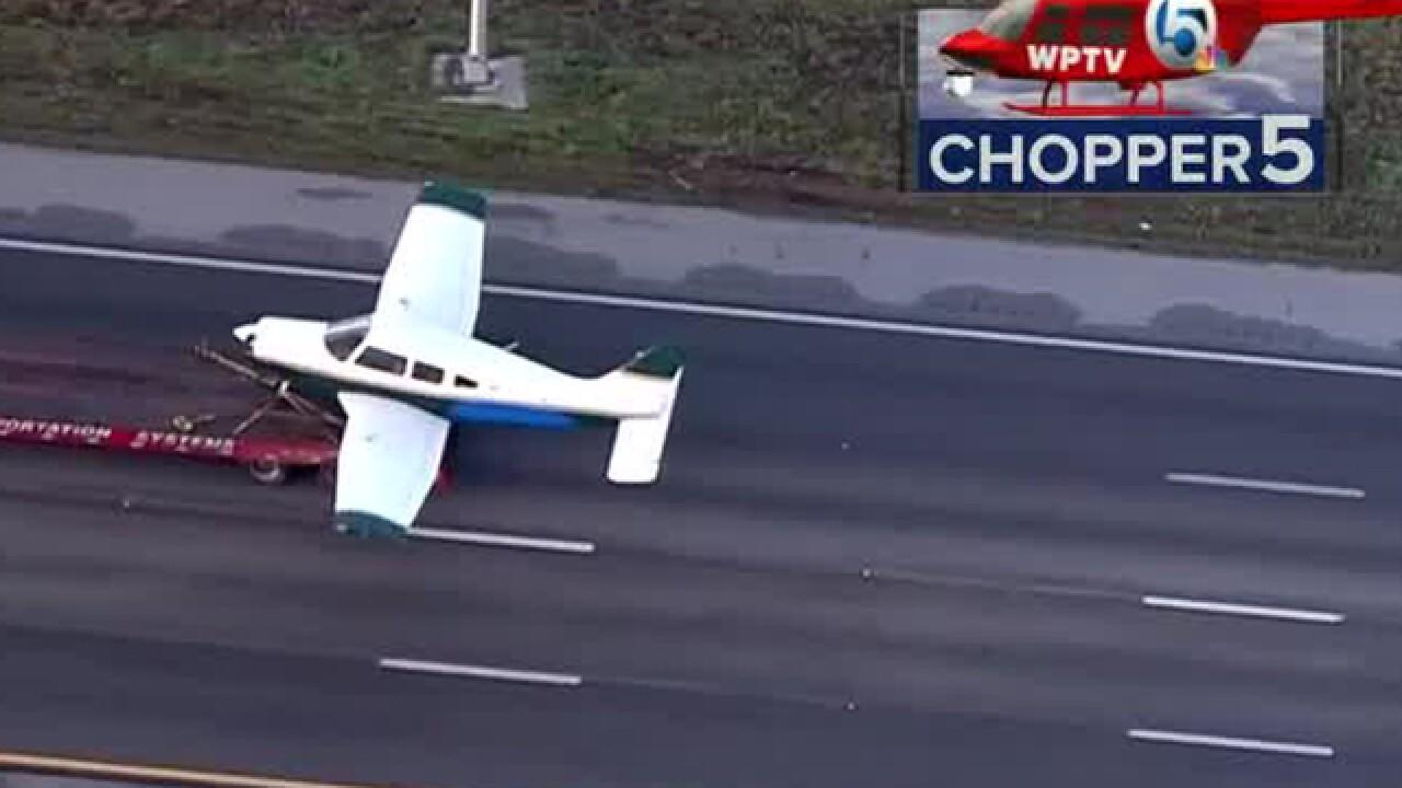 Plane makes emergency landing on I-95 in IRC