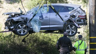 APTOPIX Tiger Woods Vehicle Crash Golf