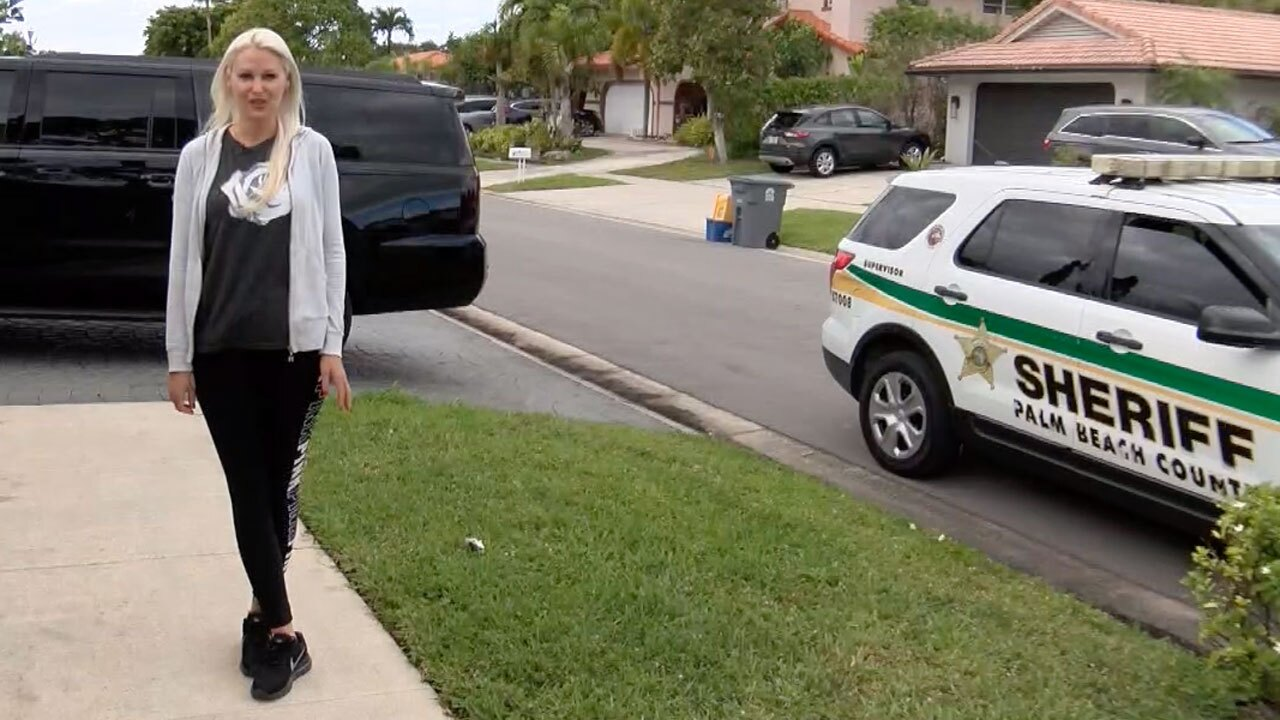 Megan Garber, Boca Raton resident whose driveway was ripped out by county