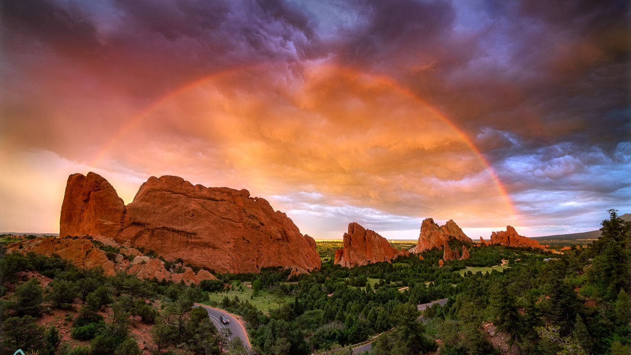 Rainbow over Garden of the Gods