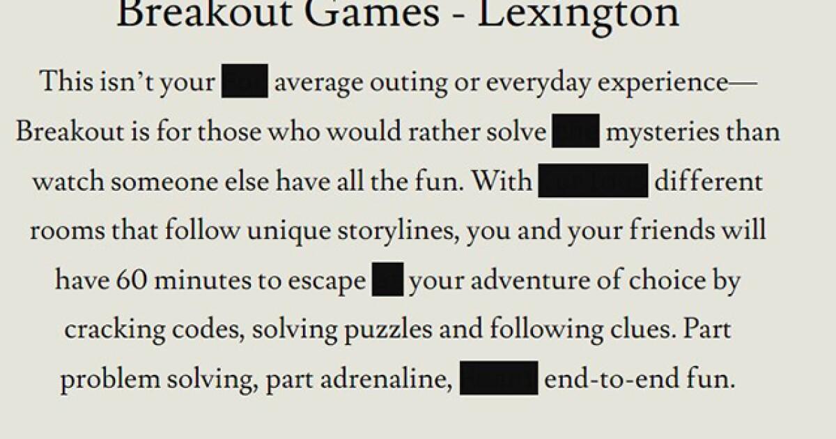 Breakout Games $2K Cash Treasure Hunt Underway