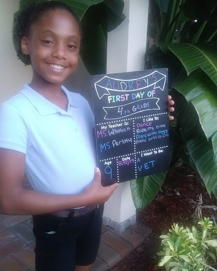 4th grade, here comes my daughter Audrey.