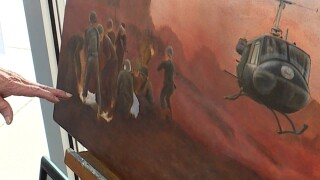 Veteran Art Institute soldier painting