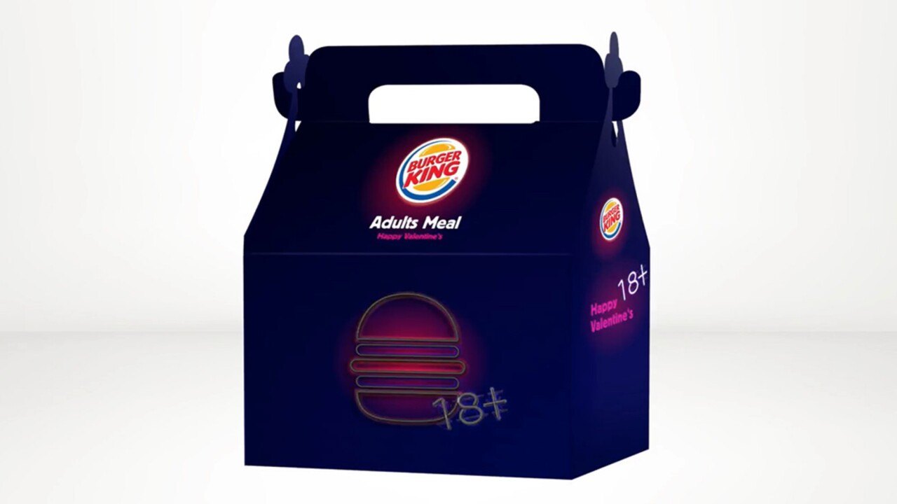 Burger King selling 'Adults Meal' for Valentine'sDay