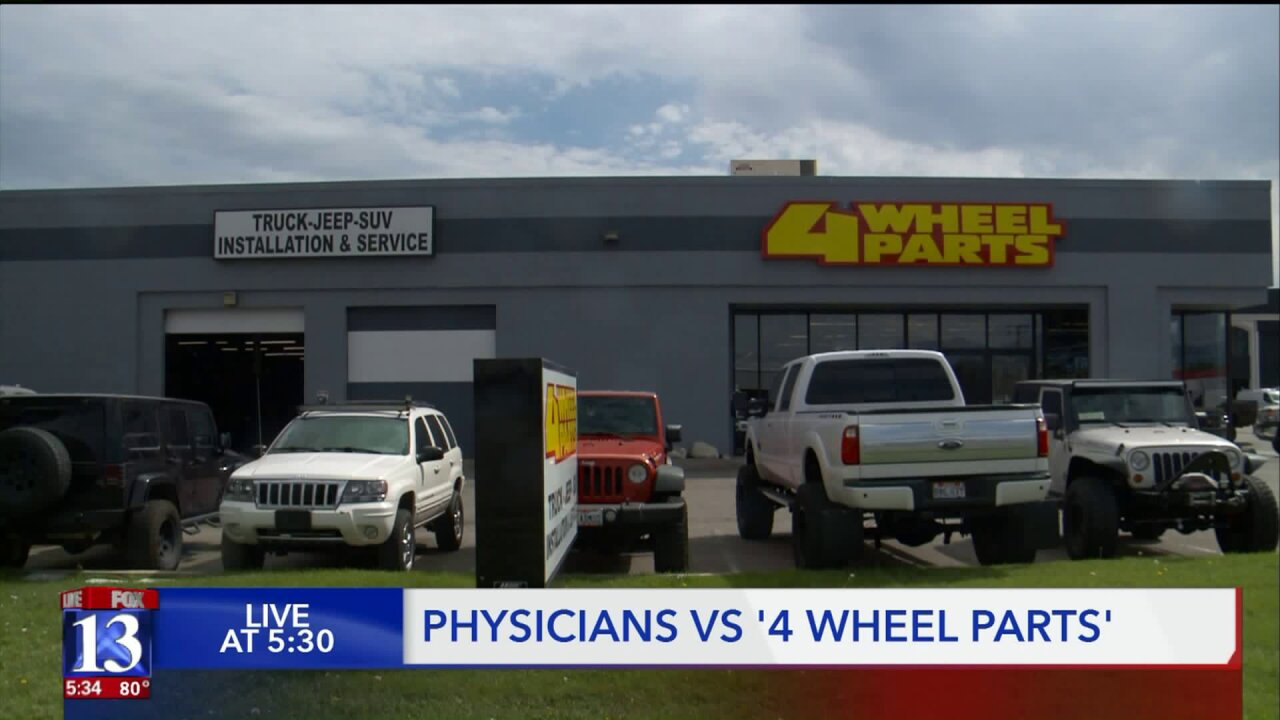 Utah physicians group suing auto parts store for alleged environmentalviolations