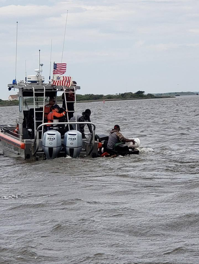 Photos: Coast Guard rescues boat taking on water while training at Oregon Inlet