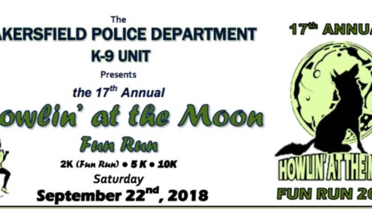 BPD hosting annual 'Howlin' at the Moon Fun Run' on Saturday