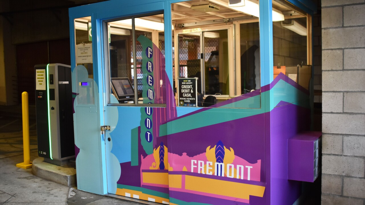 Downtown San Luis Obispo toll booth located at 871 Marsh St.