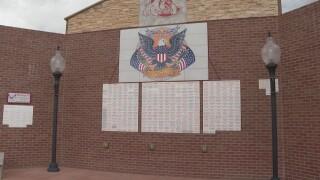 Centennial HS veterans wall.jpg