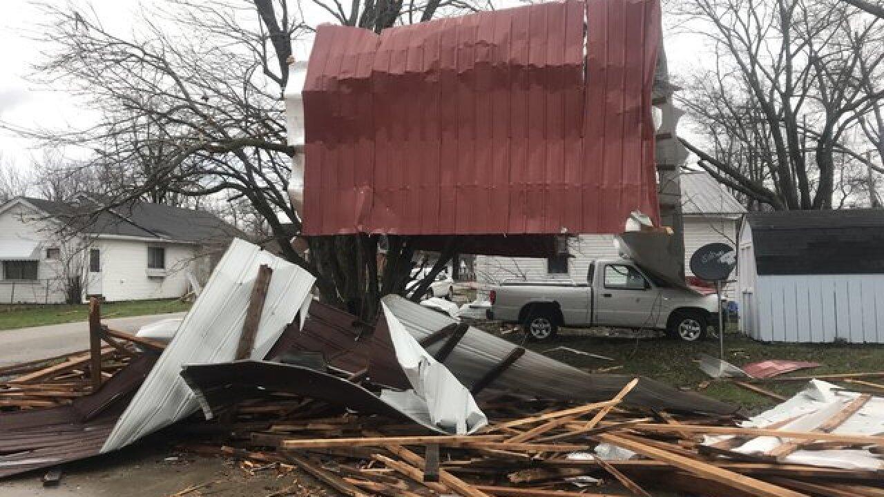 Possible tornado strikes Brown County village