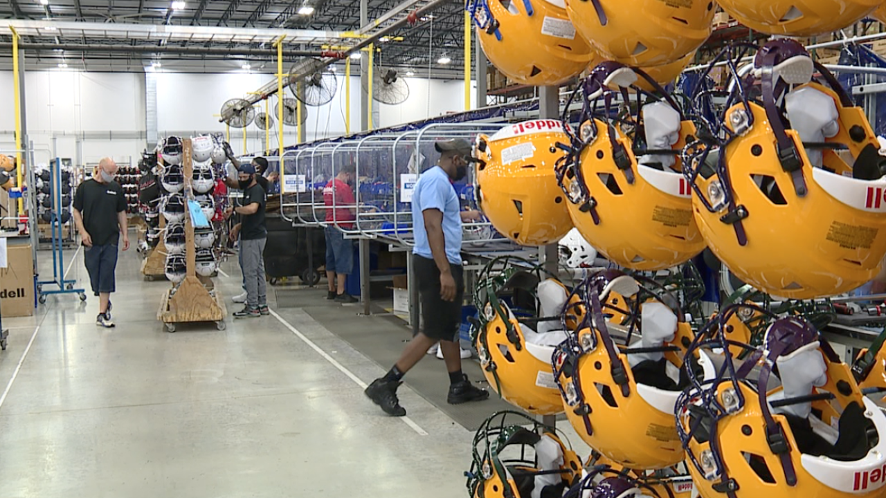 North Ridgeville's football helmet manufacturer, Riddell, playing catch up after shut down