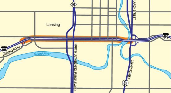 I-496 Lansing Design-Build Project