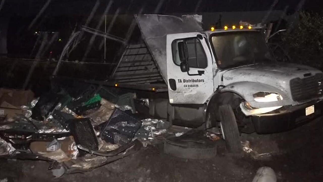 College Area Kensington big rig crash Nov. 29, 2018