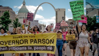 Planned Parenthood Holds Rally To Protest Closure Of Last Abortion Clinic In Missouri