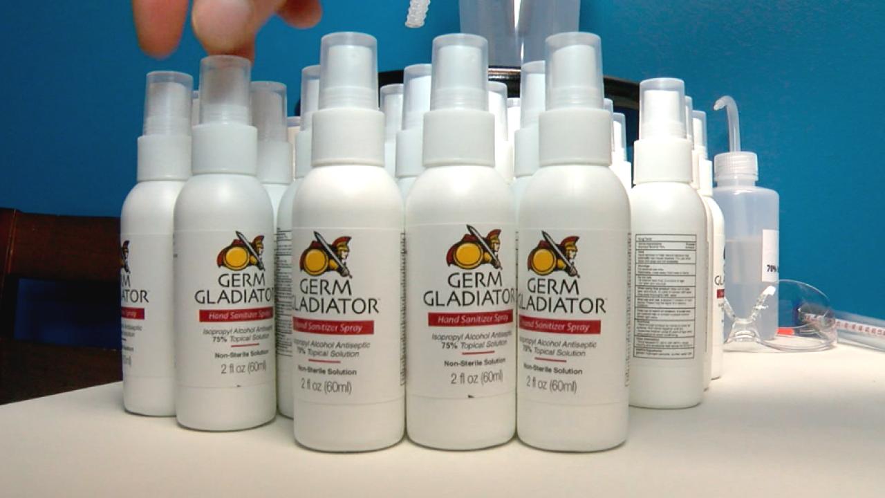WCPO germ gladiator hand sanitizer.png