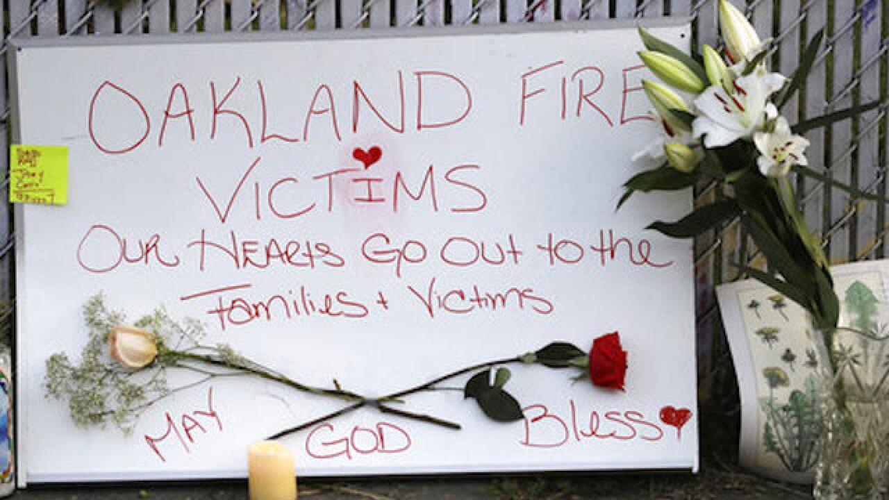 2 arrested for involuntary manslaughter in Oakland warehouse fire
