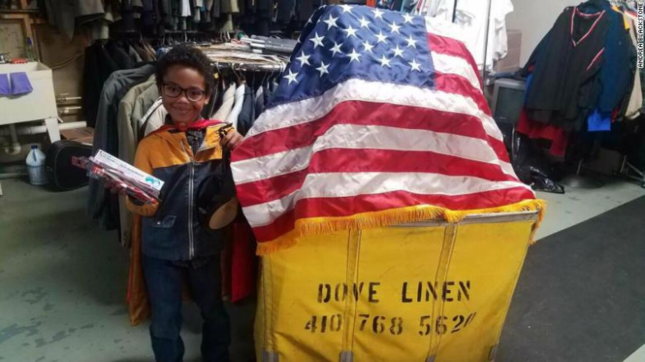 Maryland boy helps nearly 3,000 homeless veterans with 'hero bags'