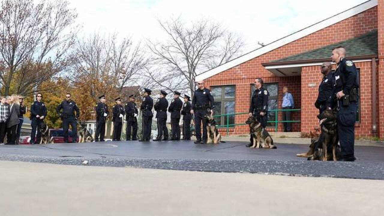 MPD Honor Guard salutes fallen K9 officer
