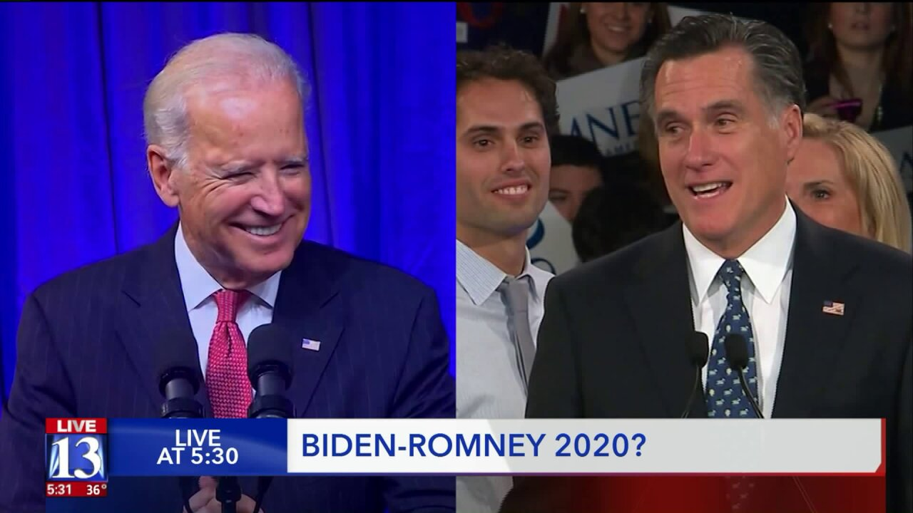 A Biden-Romney 2020 presidential run? Experts say it's possible, but not likely