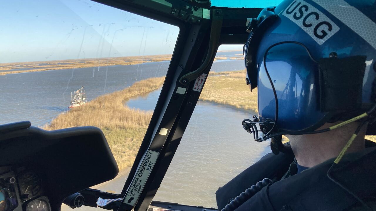 Coast Guard medevac one mariner and one dog near Yellow Cotton Bay, Louisiana
