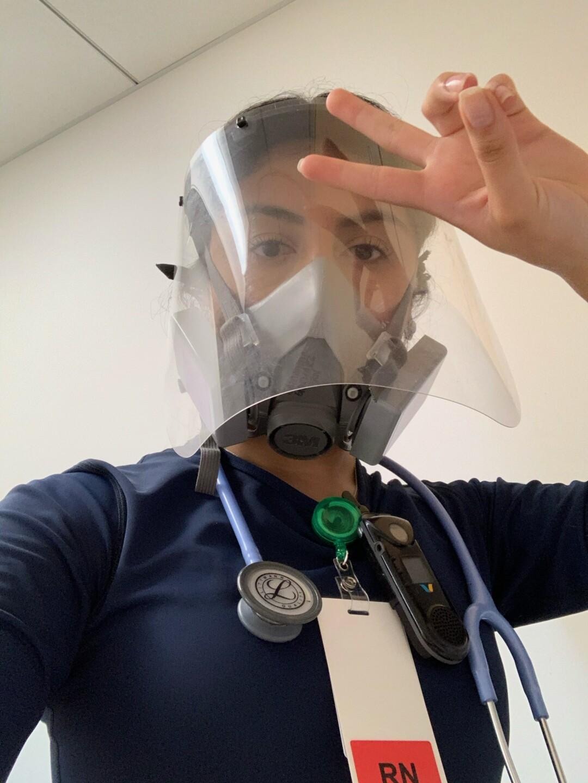 Samantha Gonzalez at work