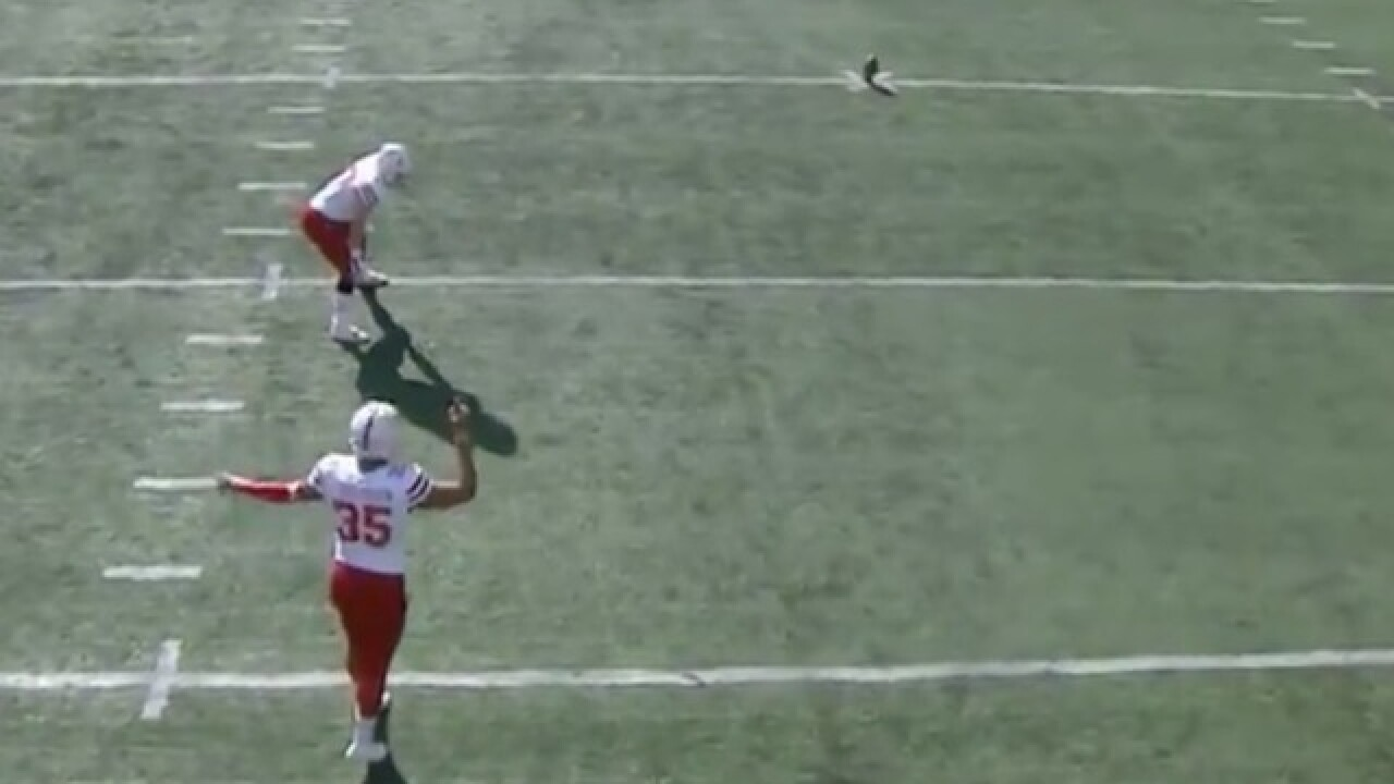 Nebraska's kicker makes possibly the worst kickoff of all-time