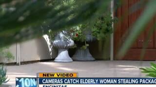 Encinitas security cameras catch elderly woman stealing packages