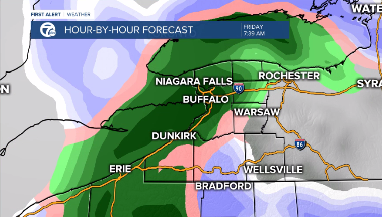 A strong cold front will move through WNY on Friday.
