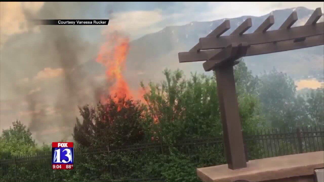 Large brush fire forces evacuations inOrem