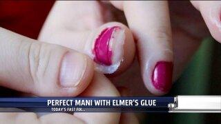 Acheive the perfect manicure using Elmer'sGlue