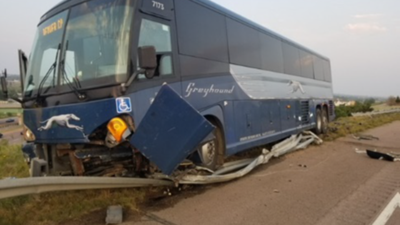 Authorities said armed suspect may have deliberately caused Greyhound bus crash in Fountain