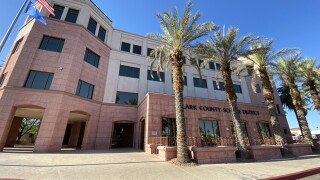 The Clark County School District Headquarters at Sahara and Decatur in Las Vegas as seen in July 2020