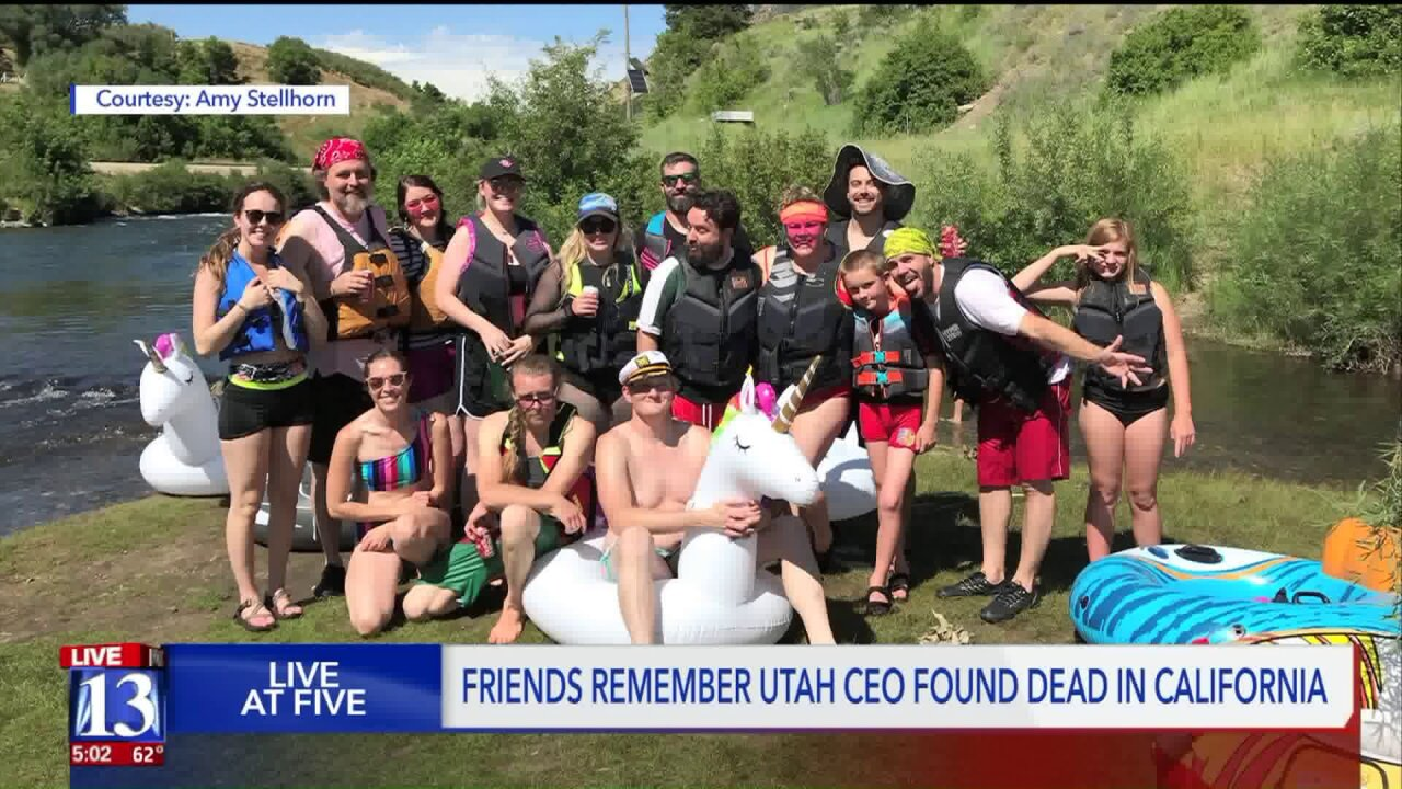 Friends and colleagues in shock after Utah CEO found dead in California