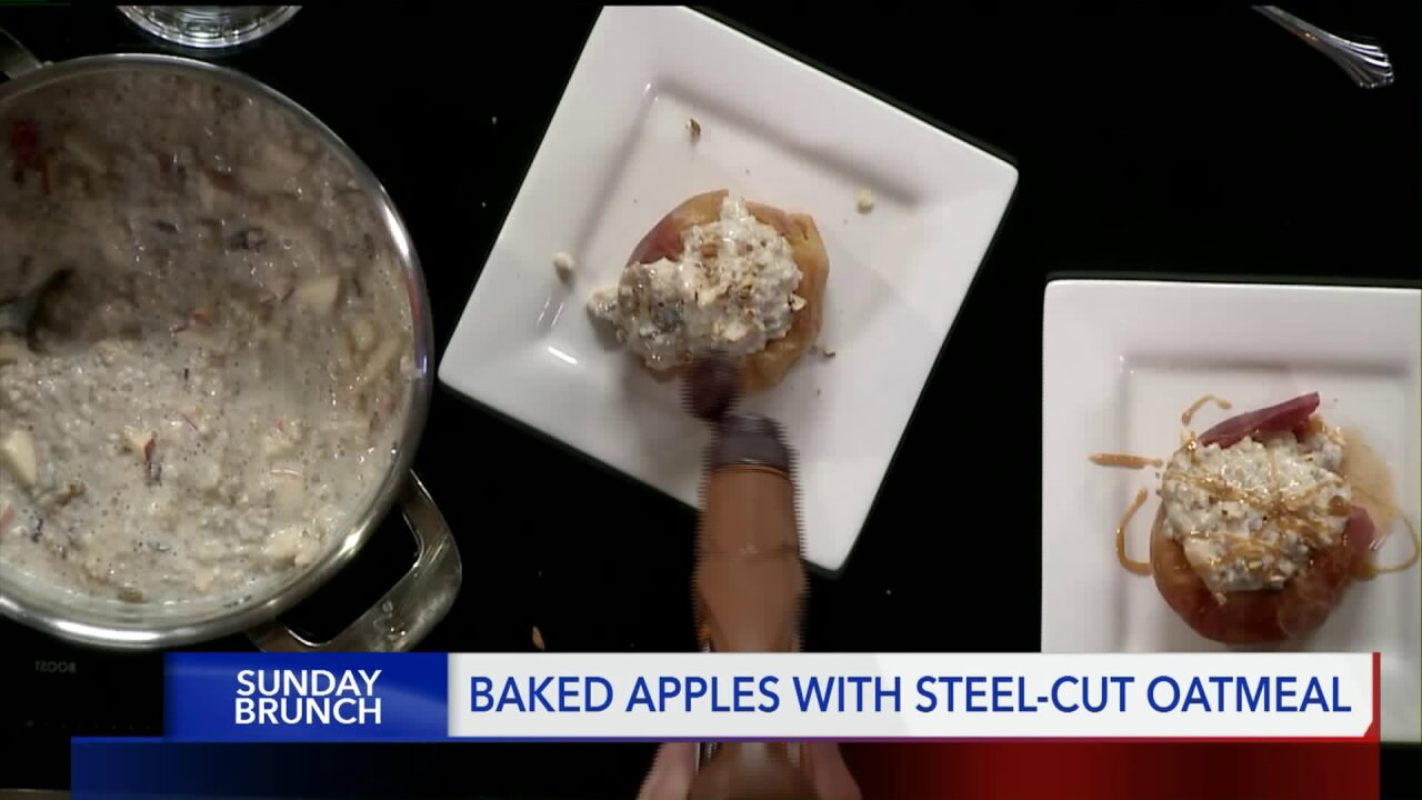 Baked Apples with Steel Cut Oatmeal