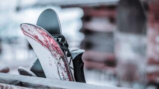 Skis stock photo