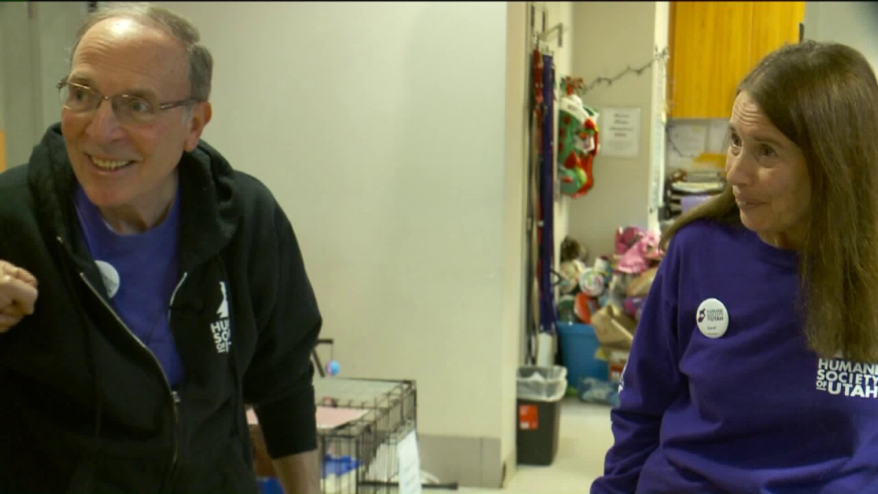 Couple reflects on seven years volunteering at Humane Society ofUtah