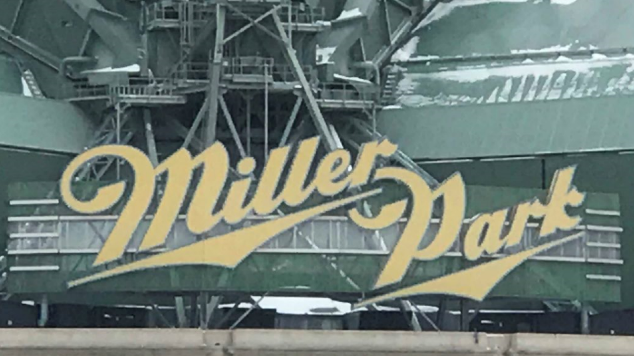 Miller Park sign on Milwaukee's Miller Park