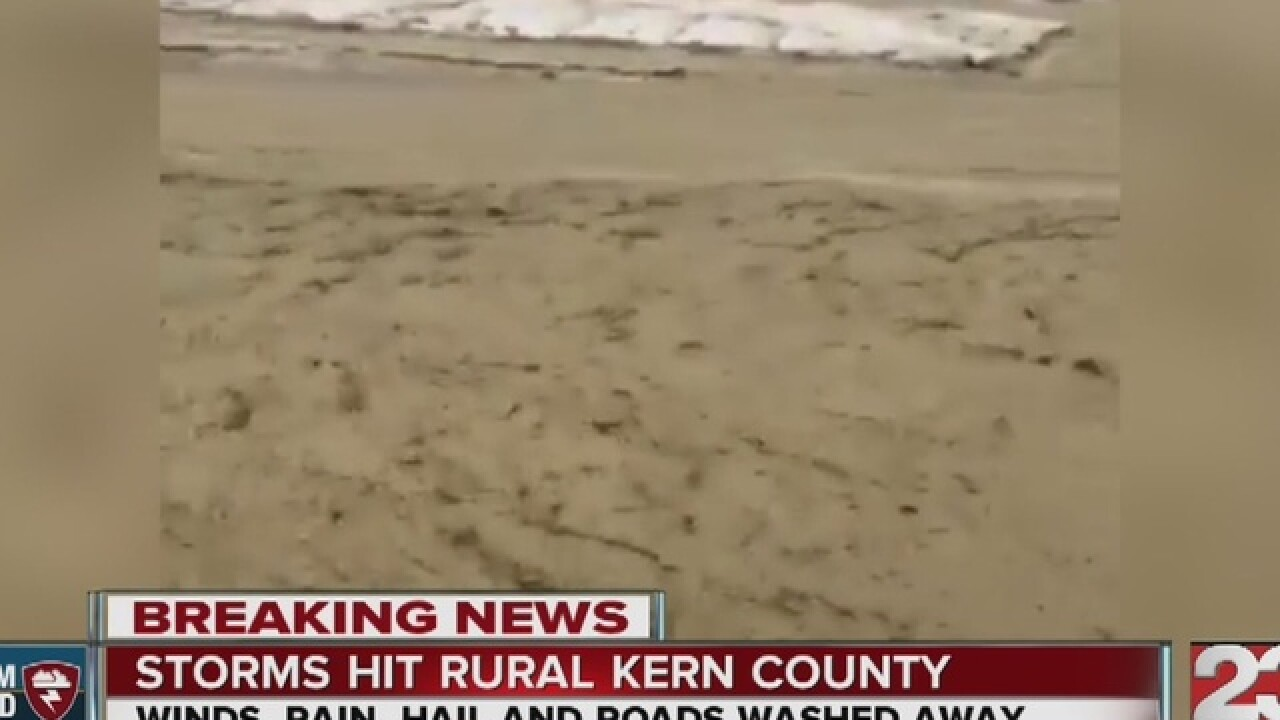 Wet windy weather takes over Kern County May 5