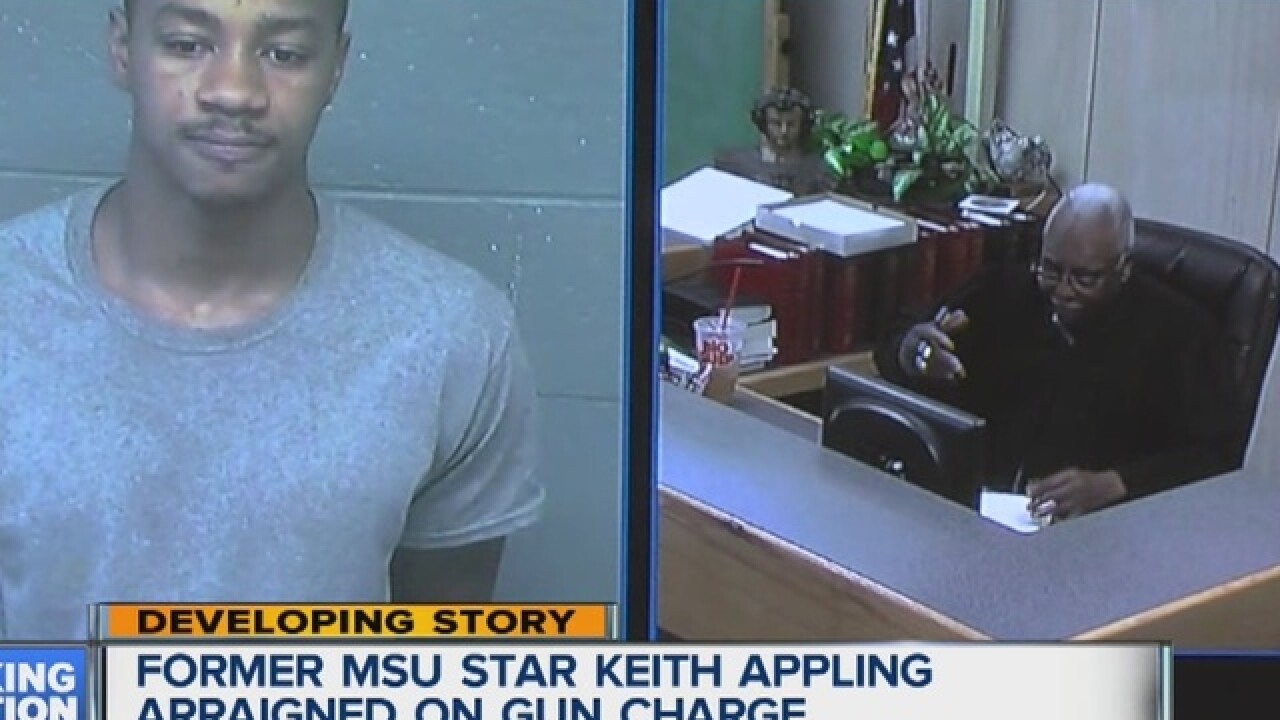 Keith Appling charged for carrying weapon
