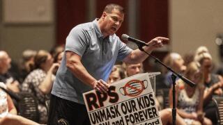 Parents against masks in schools