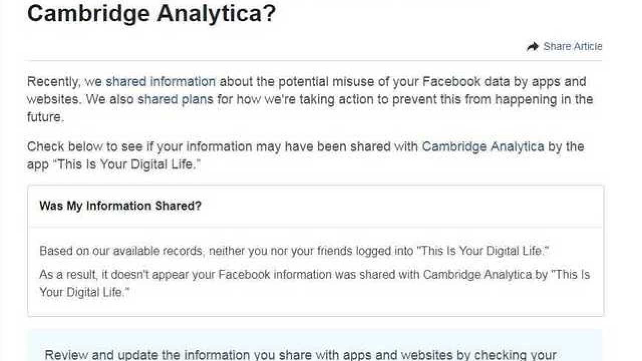 Step-by-step: Was your Facebook data shared?