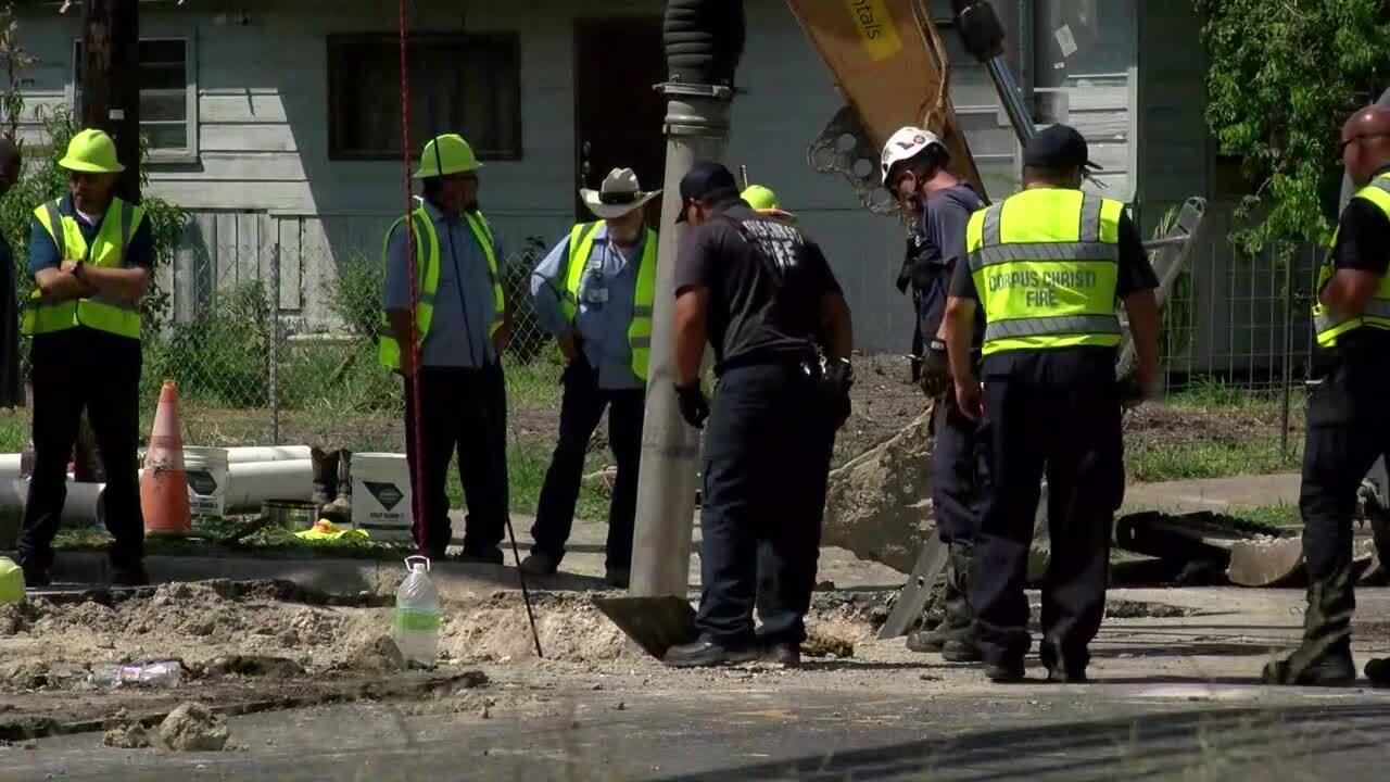 City worker rescued
