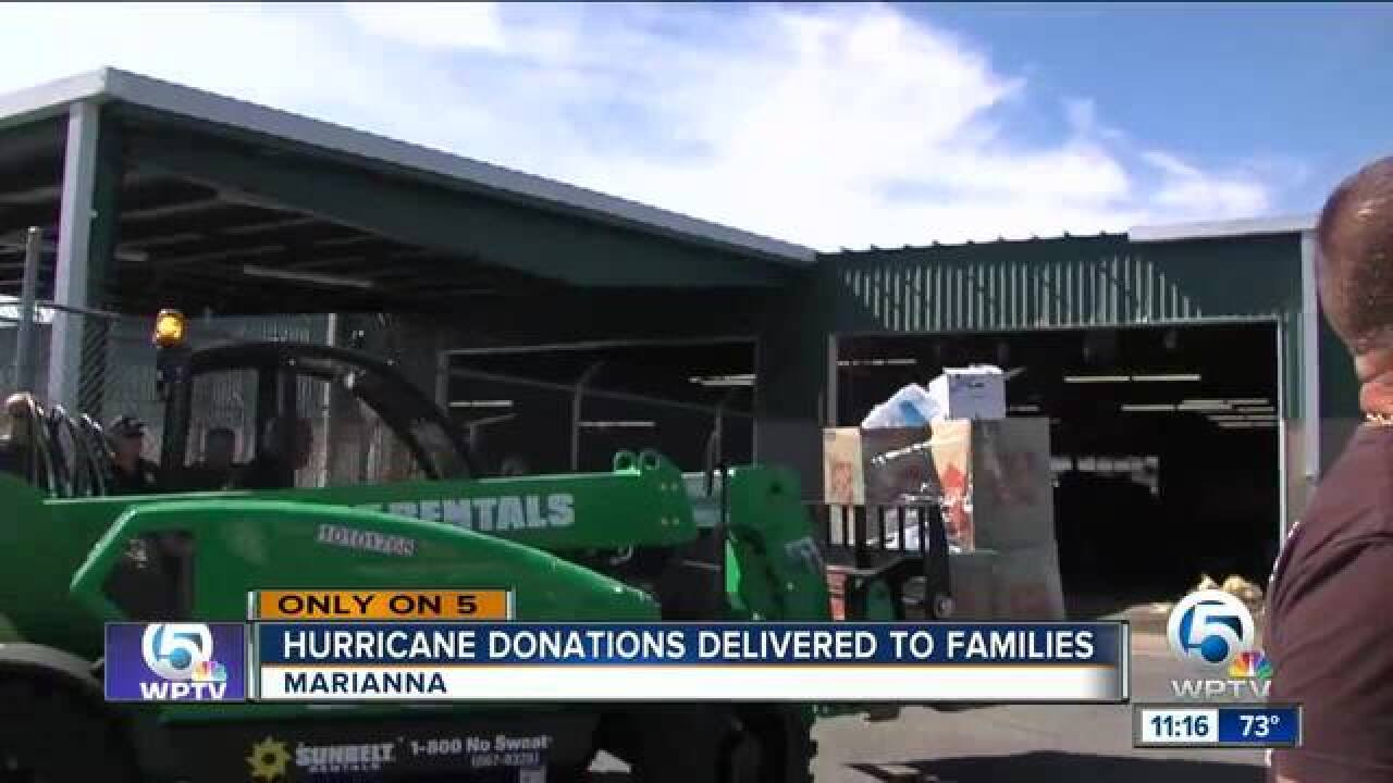 St. Lucie Sheriff's Office, local business owner, deliver truckloads of supplies to Jackson County