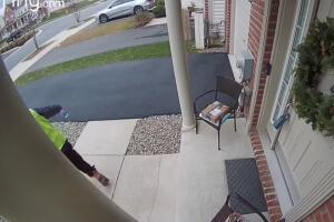 WATCH: Cleveland Heights woman captures Amazon delivery driver's delight at basket of treats left at her door