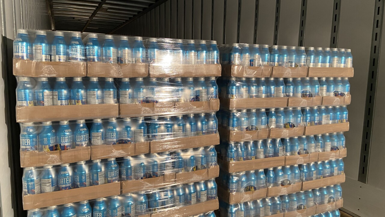 Truck filled with water headed to Conroe, TX