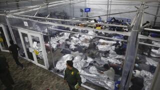 Migrant facility Donna, Texas